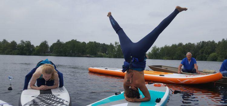 Yoga op het water zonder nat te worden